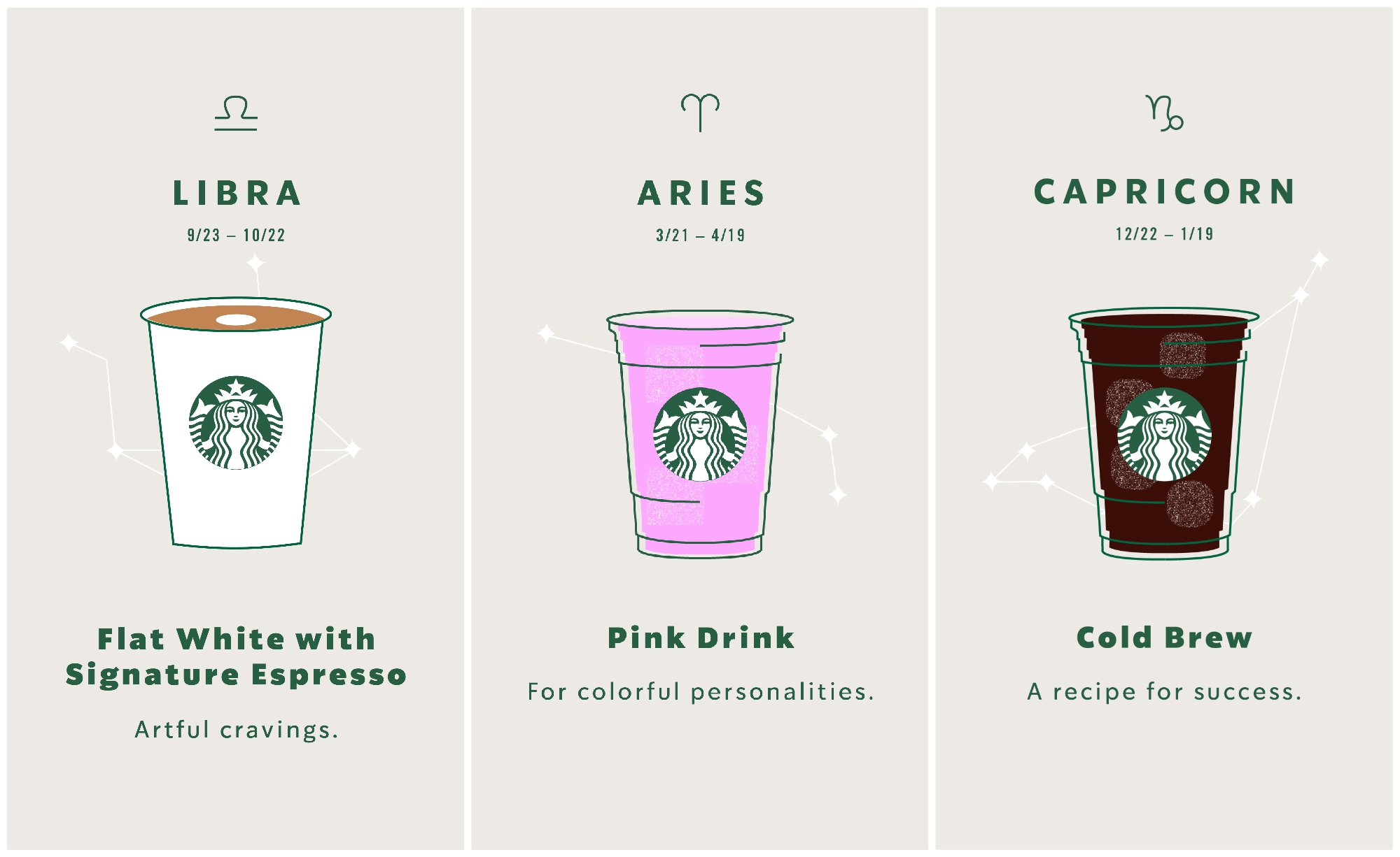 Starbucks created a drink order for every zodiac sign, and this is extremely #onbrand for millennials