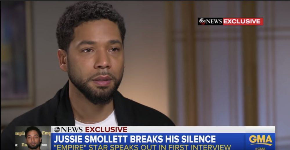 """Jussie Smollett spoke about his attack on <em>GMA</em>—says people wouldn't doubt him if his attacker was """"a Muslim or a Mexican"""""""