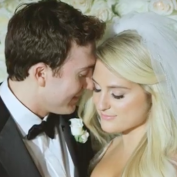 """Meghan Trainor's music video for """"Marry Me"""" features footage from her lavish December wedding"""