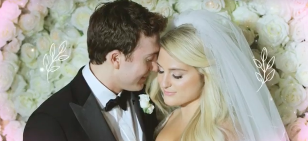"Meghan Trainor's music video for ""Marry Me"" features footage from her lavish December wedding"
