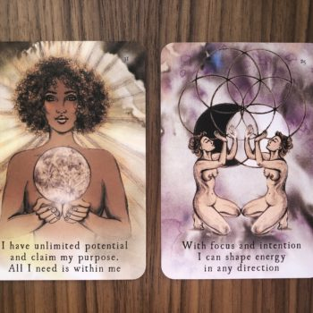 I used the Moon Deck to help me set intentions for a week, and it's a form of self-care that actually worked for me