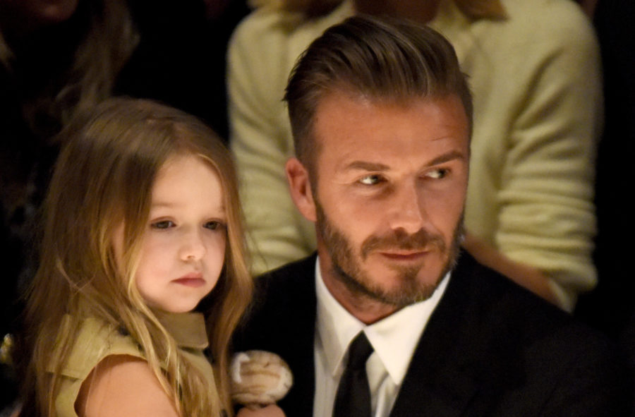 Harper Beckham looks like a tiny Anna Wintour at mom Victoria's fashion show