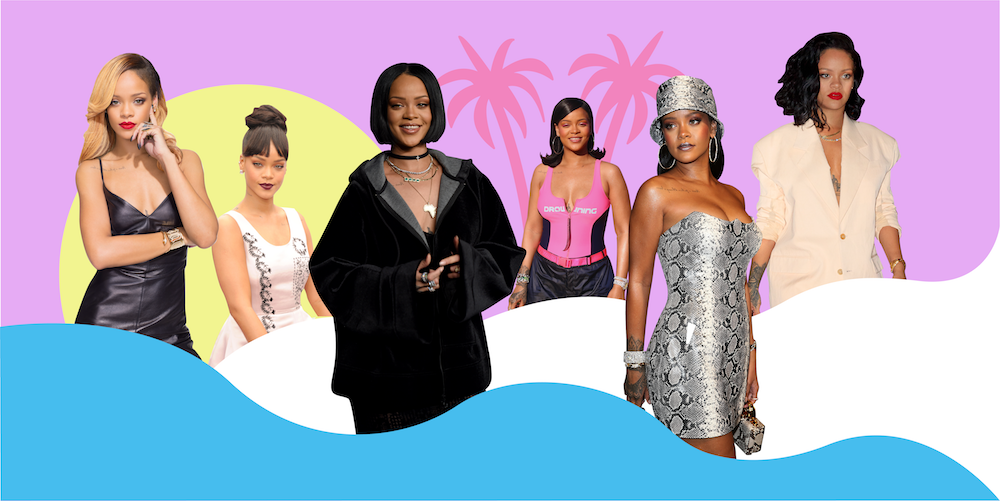 Rihanna's best style and beauty moments, from girl-next-door hair to bedazzled durags
