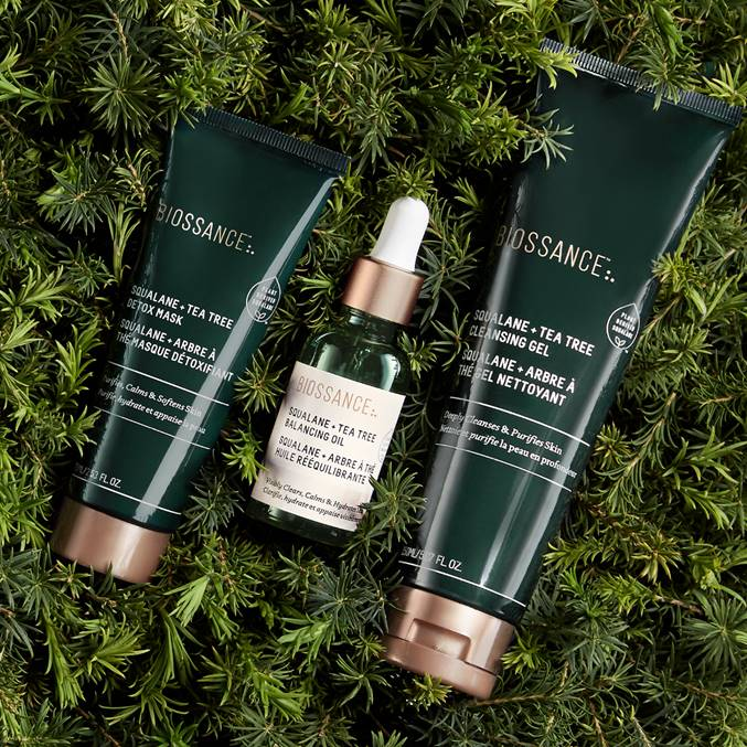 Clean beauty brand Biossance has a new eco-friendly tea tree collection