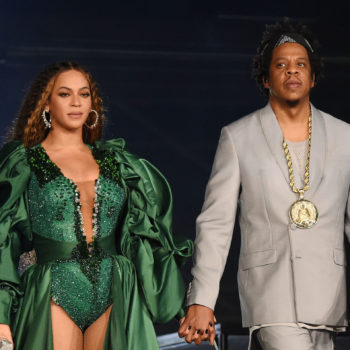 Beyoncé and Jay-Z accepted a Brit Award in front of a regal Meghan Markle portrait