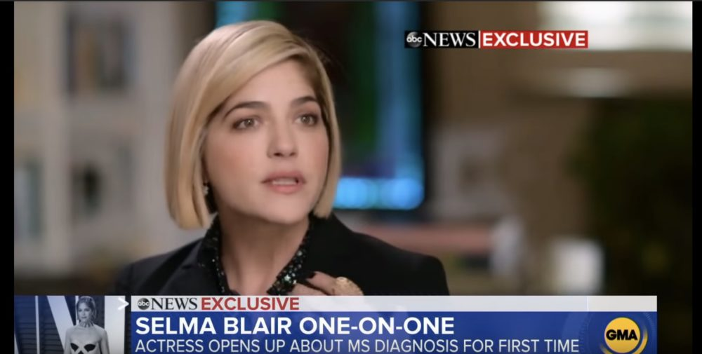 Selma Blair gave an on-camera interview during an MS flare up for this important reason