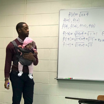 A math professor held a baby while lecturing when his student couldn't find child care, and more of this, please