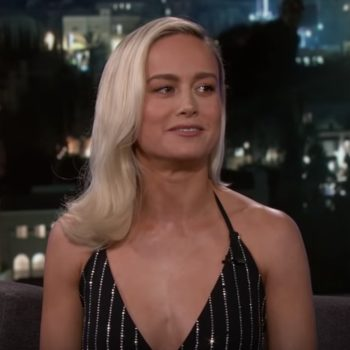 "Brie Larson showed off her Captain Marvel ""cool face"" on <em>Jimmy Kimmel</em>, and it's even cooler than we expected"