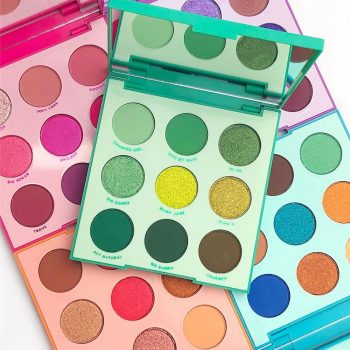 You're in luck—ColourPop just launched a green eyeshadow palette for St. Patrick's Day