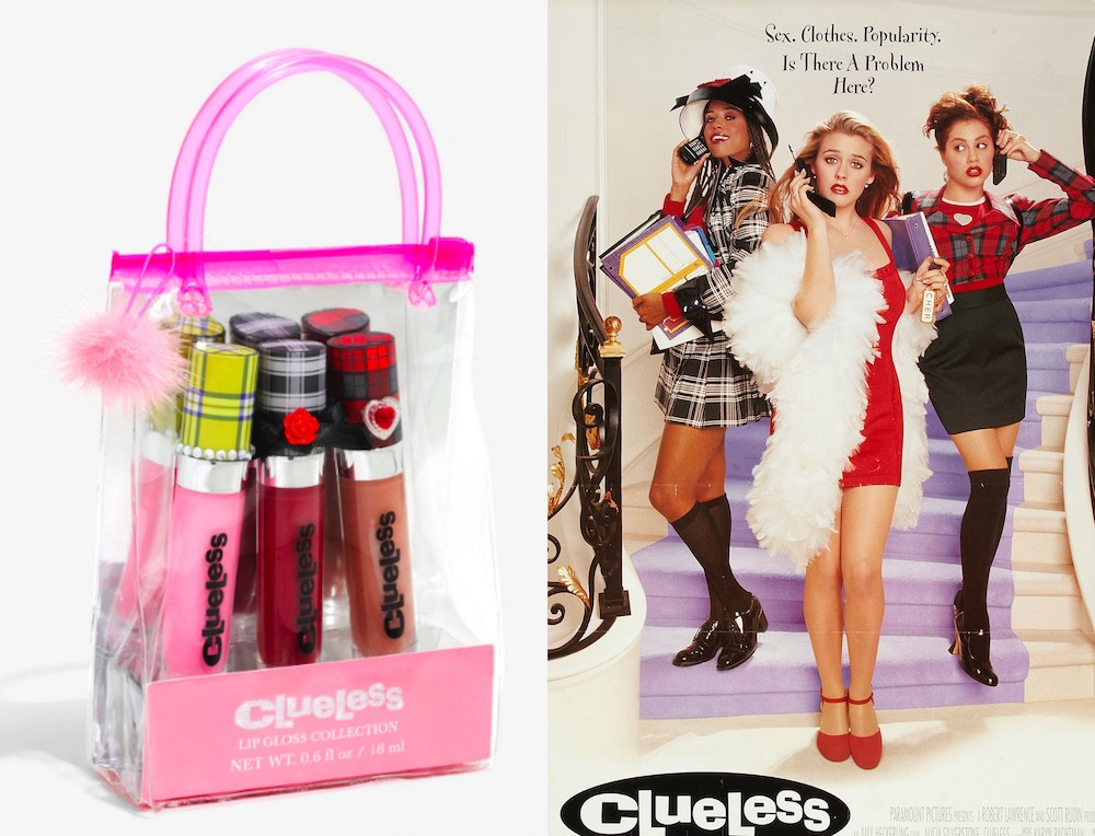 A <em>Clueless</em> lip gloss set is here, and we're totally butt-crazy in love with it