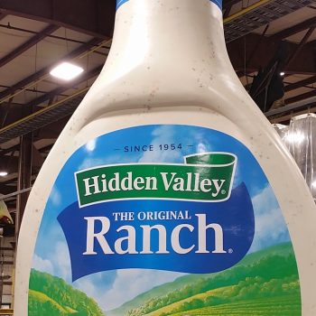 Go to Vegas this weekend if you want to see a giraffe-sized bottle of Hidden Valley ranch dressing