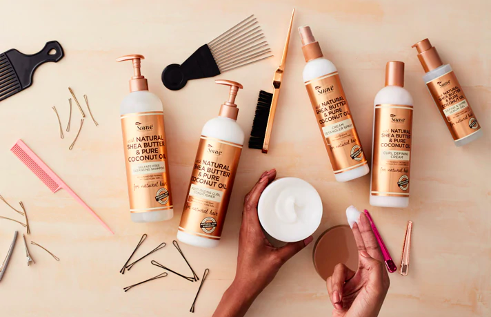 I tried Suave's new line of natural hair products to see if my hair would stop shedding like a cat's