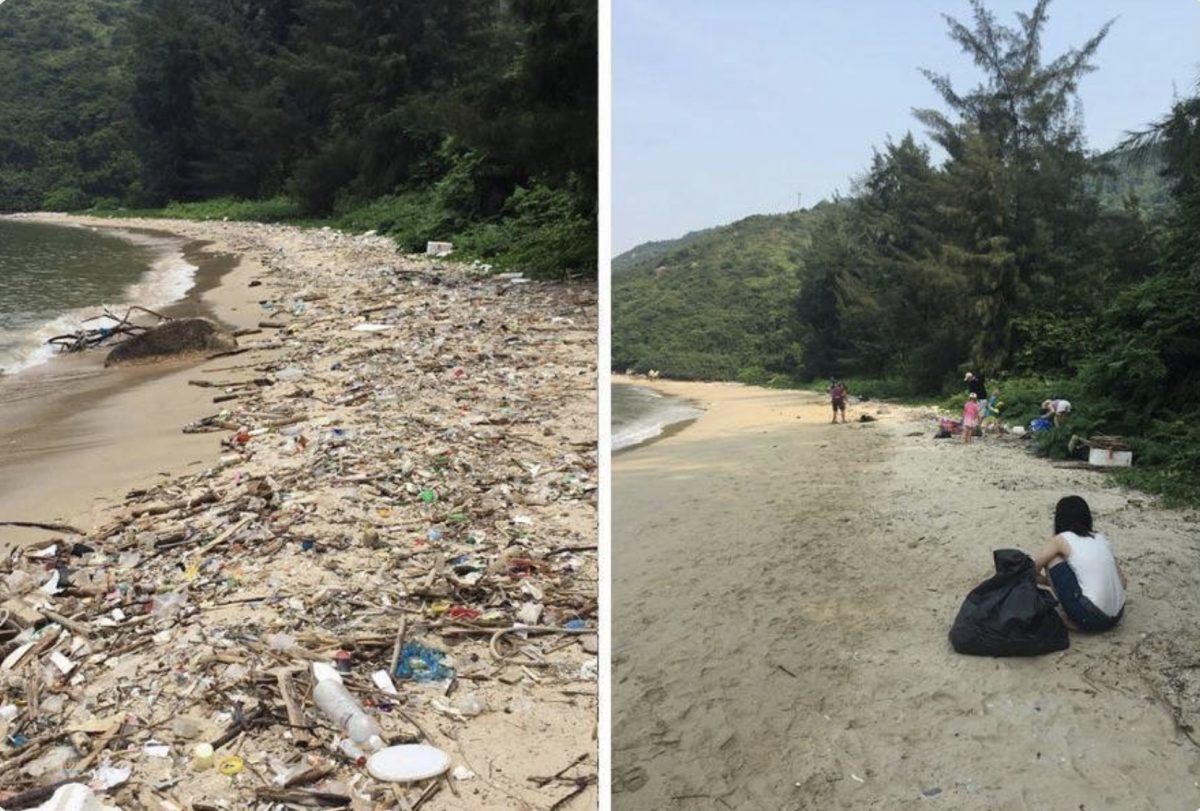 People are using #trashtag to share epic before-and-after photos of public cleanup projects