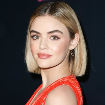 Lucy Hale is back to being a brunette, so maybe blondes don't get to have <em>all</em> the fun