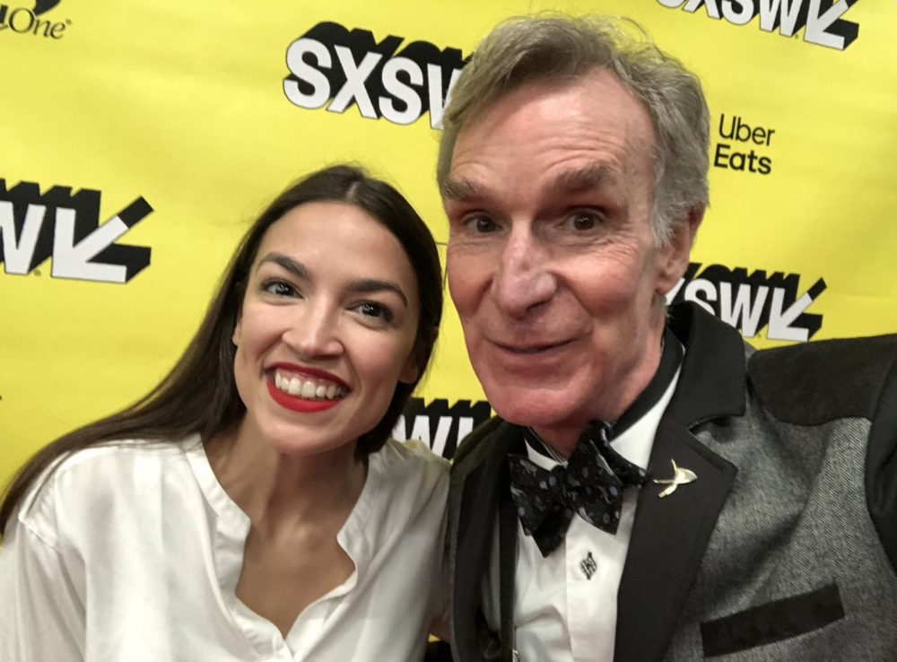 Bill Nye surprised AOC at SXSW, and it's the video moment we never knew we needed