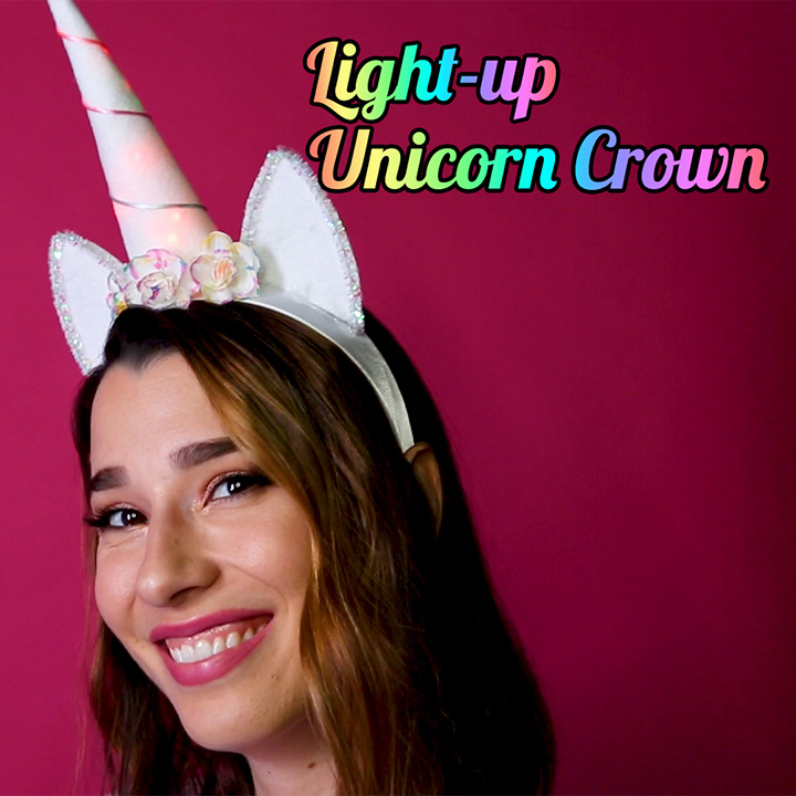 This DIY light-up unicorn crown will make you feel like fairy realm royalty