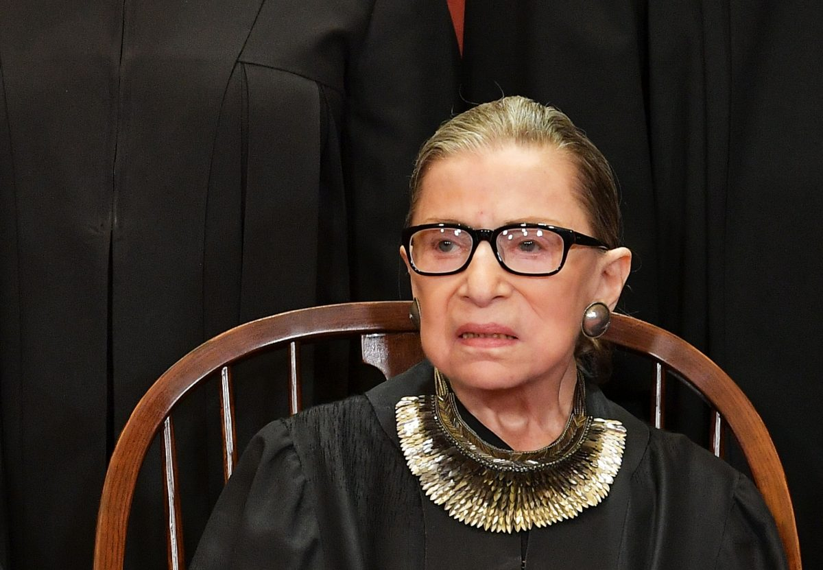 A Ruth Bader Ginsburg poster in N.Y.C. was vandalized with a swastika, and this is unacceptable