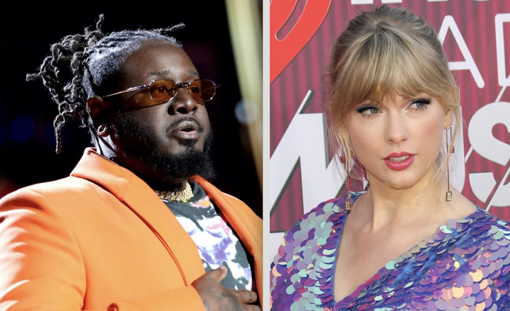 Taylor Swift fans are not here for T-Pain's joke about her breasts at the iHeartRadio Awards