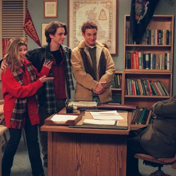 The <em>Boy Meets World</em> cast met up with Mr. Feeny, and this feels like our family reunion