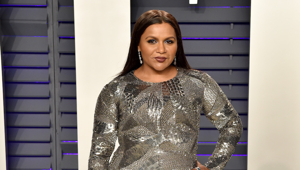 Mindy Kaling has blonde hair for April Fools' Day, but we low-key love it