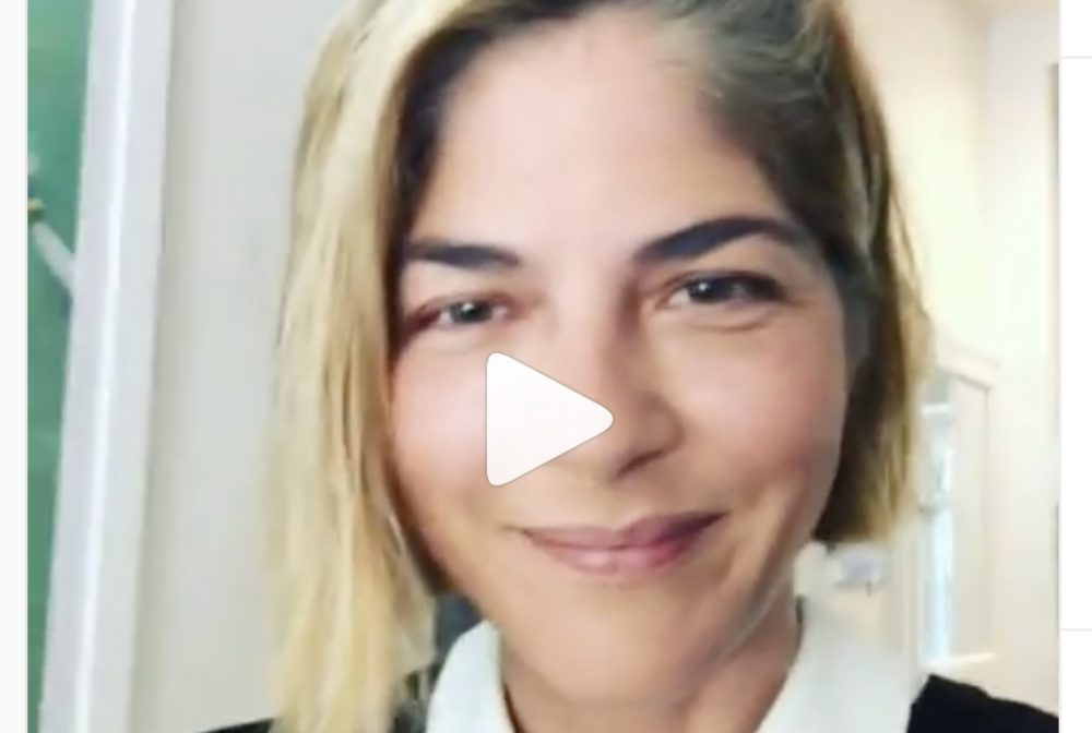 "Selma Blair posted an ""MS makeup tutorial,"" and it's perfect"