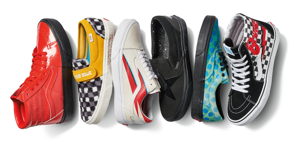 Vans is launching a David Bowie-themed shoe collection, so we can be heroes