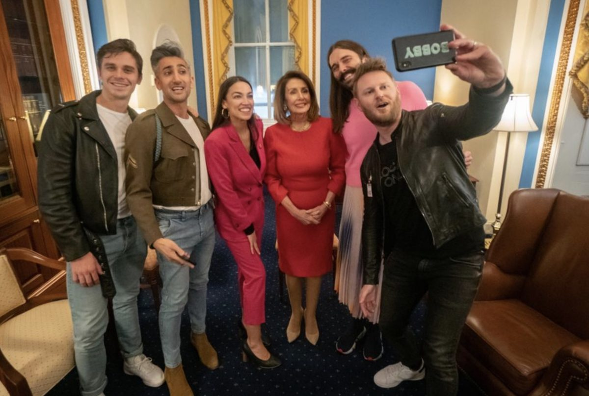 AOC and the <em>Queer Eye</em> guys were spotted together on Capitol Hill, and the internet is losing its mind