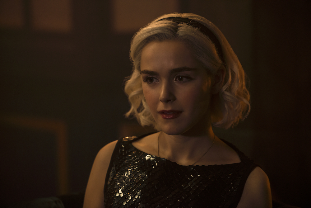 Here's how to copy Sabrina Spellman's goth berry lip on <em>Chilling Adventures of Sabrina</em>