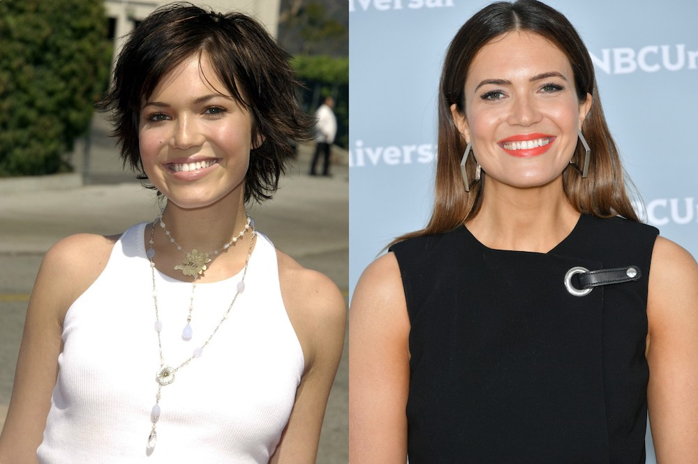 "Mandy Moore's beauty and style evolution, from blonde, ""Candy"" days to <em>This Is Us </em>mom glam"