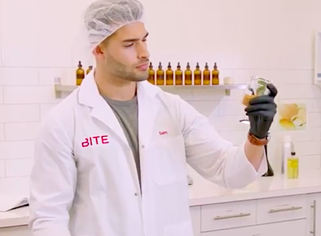"Bite Beauty's ""Hot Guys Making Lipstick"" series features Britney Spears's boyfriend Sam Asghari"