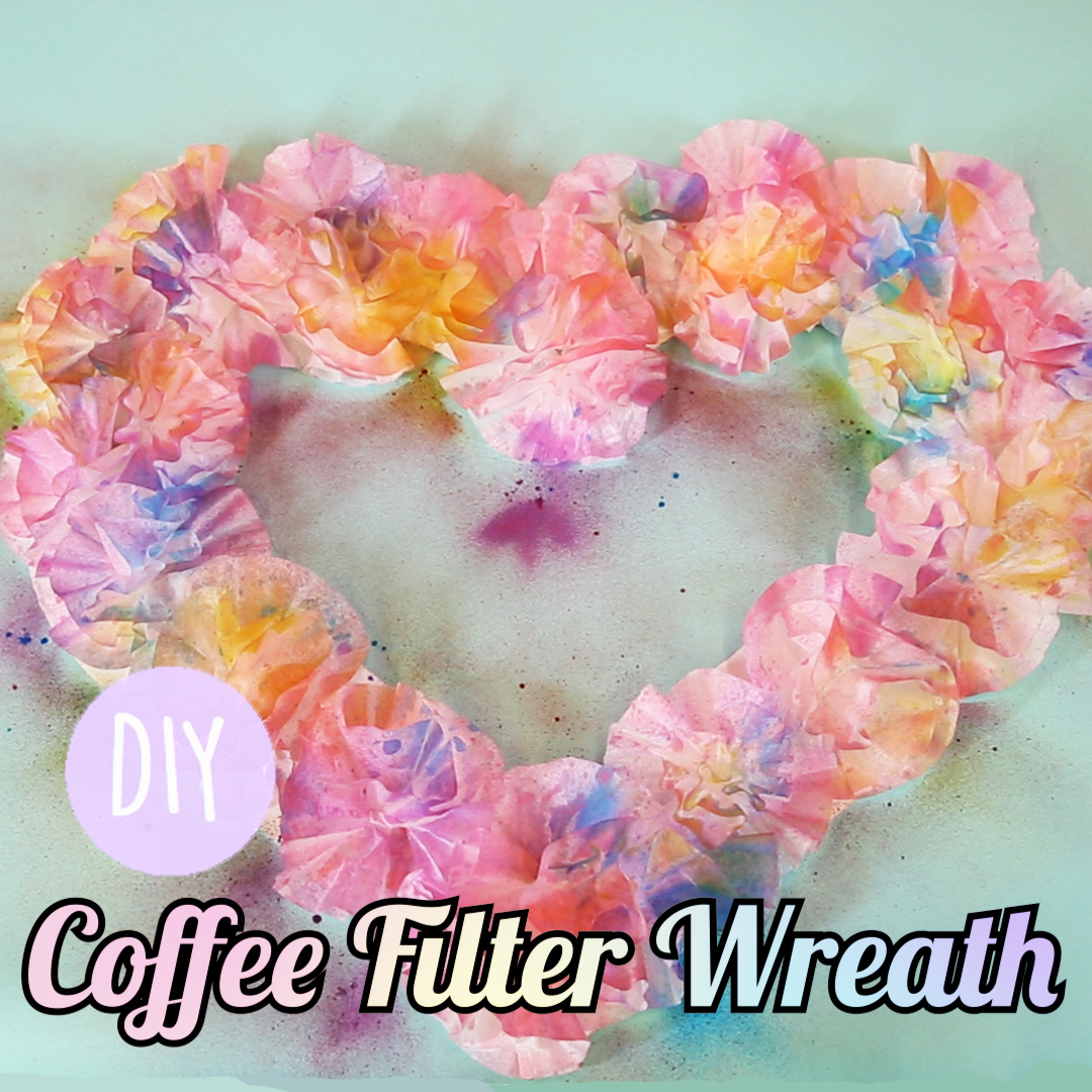 This DIY springtime wreath will help you save the world as you upcycle your coffee filters