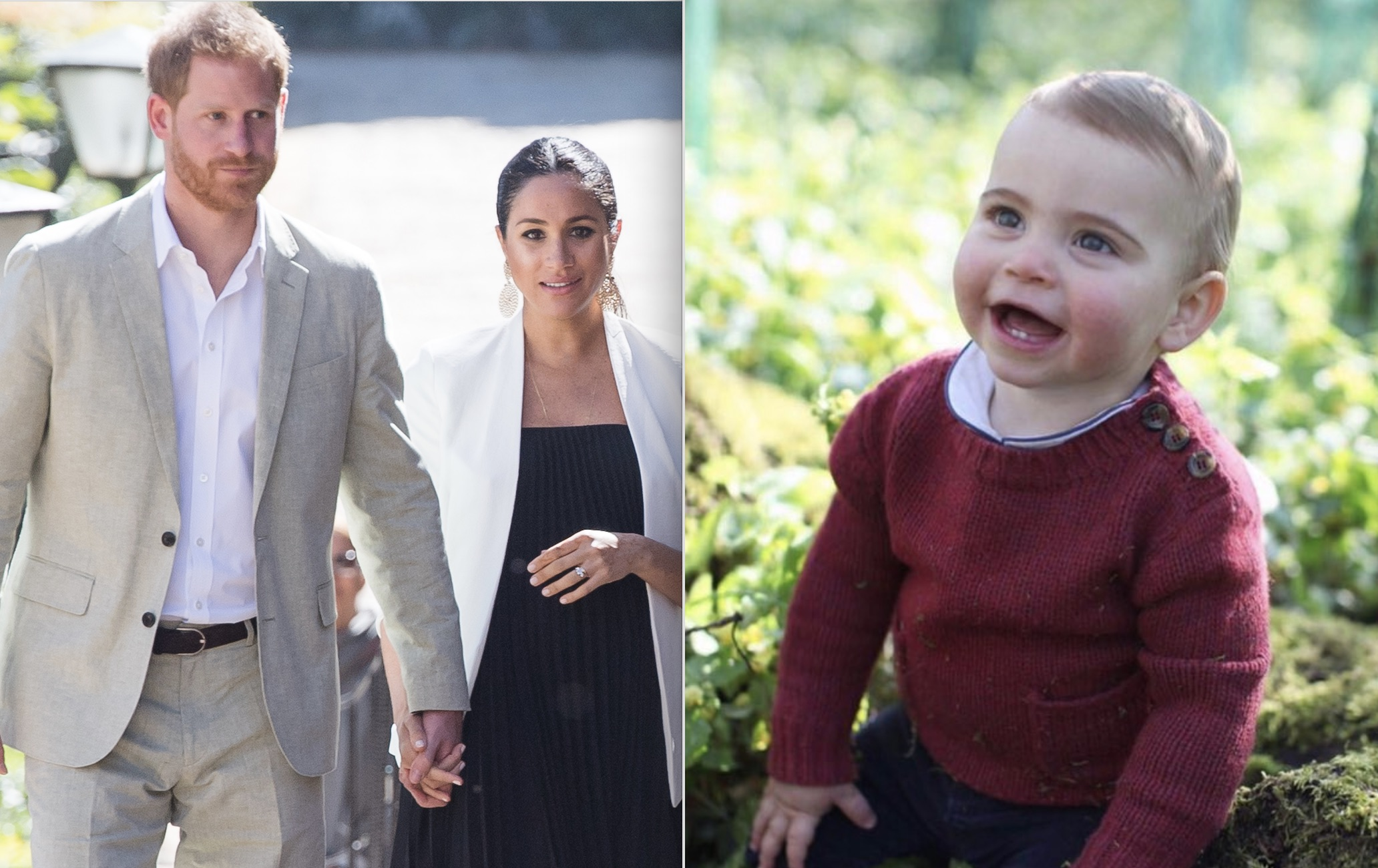 People are mad that Harry and Meghan didn't refer to baby Louis by his royal title, and can everyone just chill?