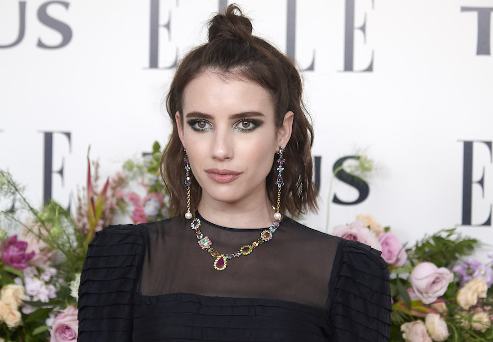 "Emma Roberts is back to ""boho blonde"" after a quick stint as a brunette"