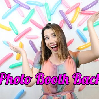 This DIY selfie booth will be the icing on your birthday party cake