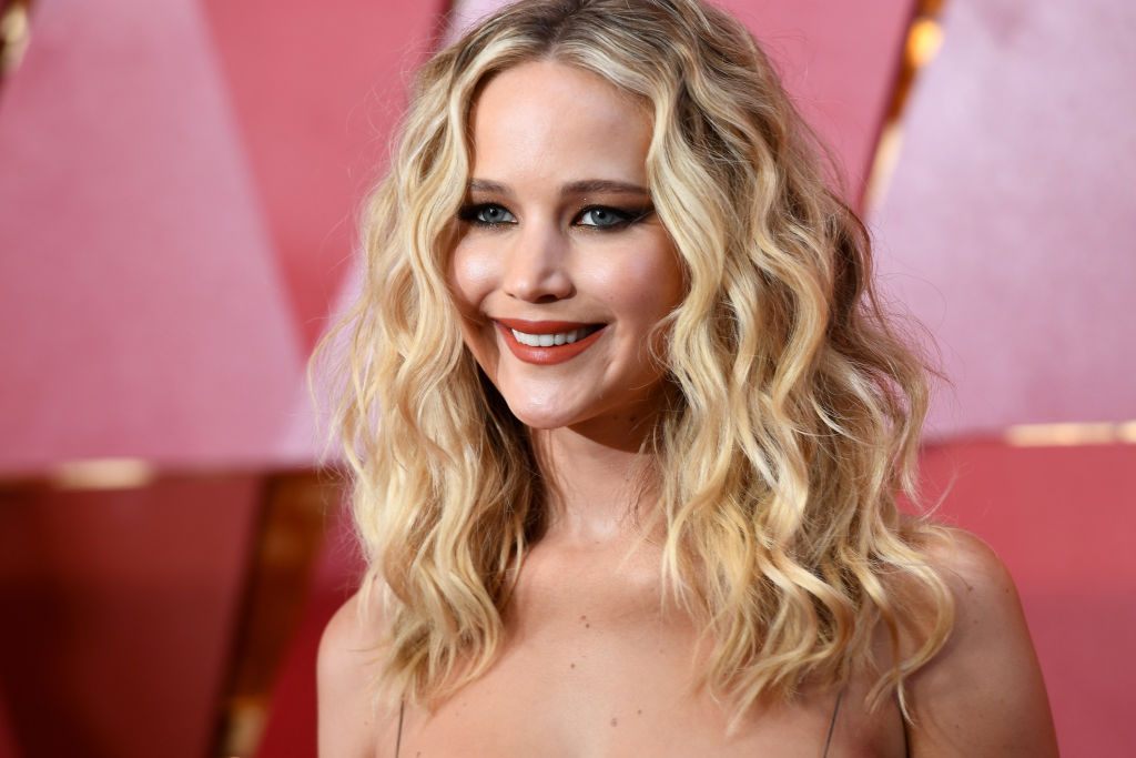 Jennifer Lawrence wore an actual wedding dress to her engagement party—and yes, there's a picture