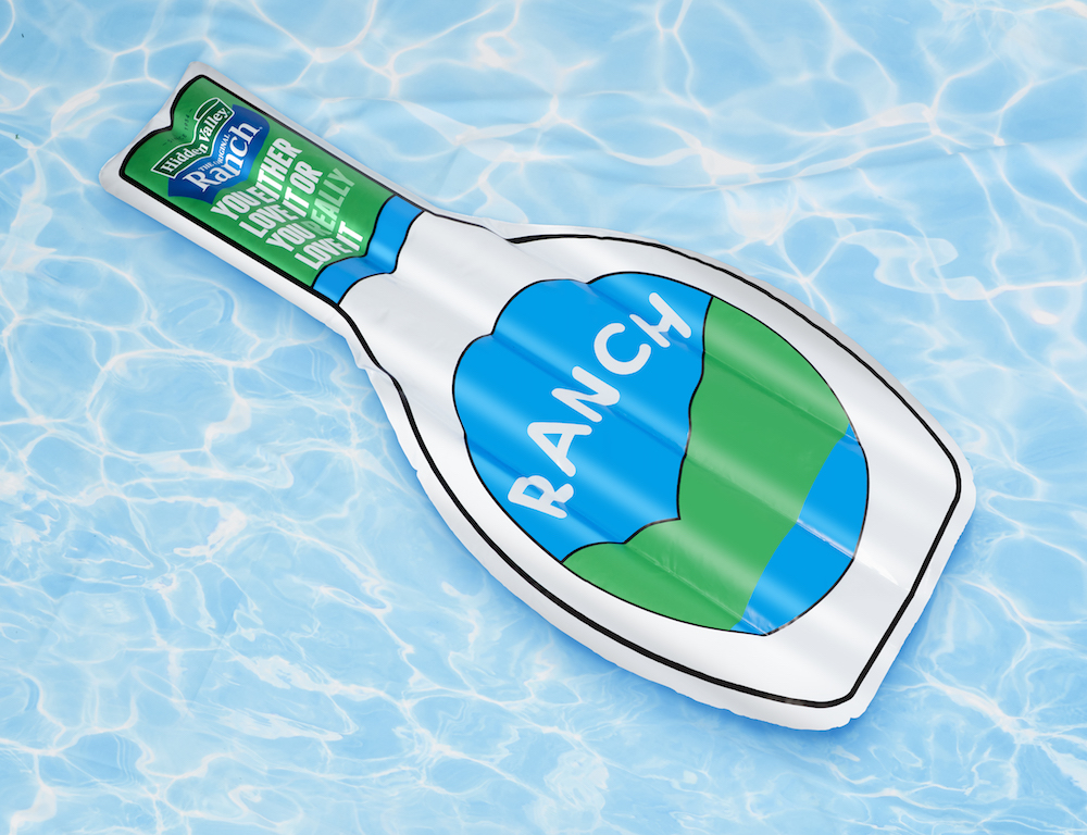 You can wear a ranch dressing swimsuit and lie on a Hidden Valley Ranch pool float this summer