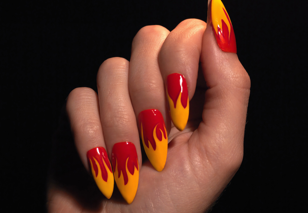Flame nails are the, ahem, <em>hottest</em> nail art trend that you need to cop this summer