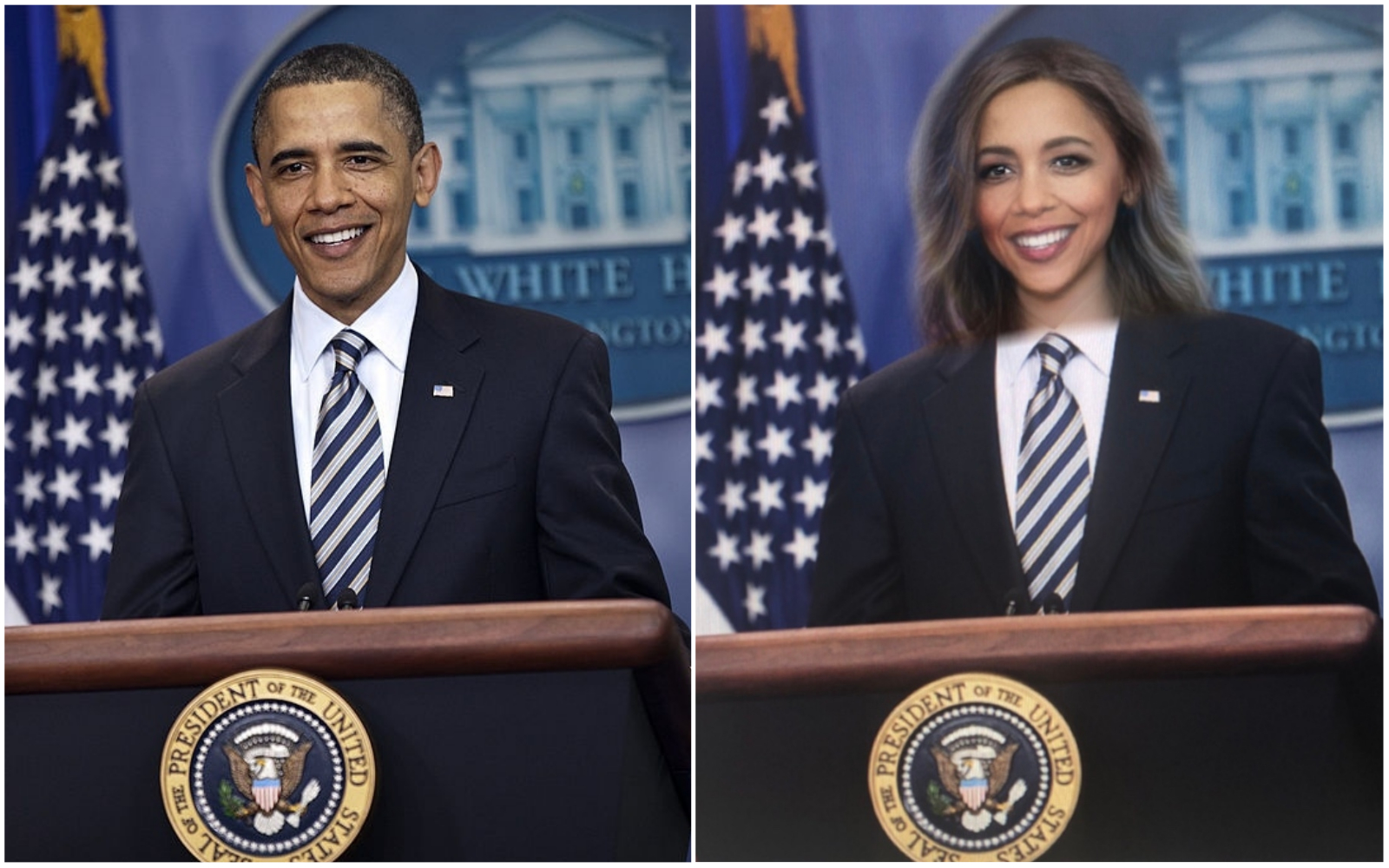 Here's the problem with using the gender-swap Snapchat filter to make female presidents