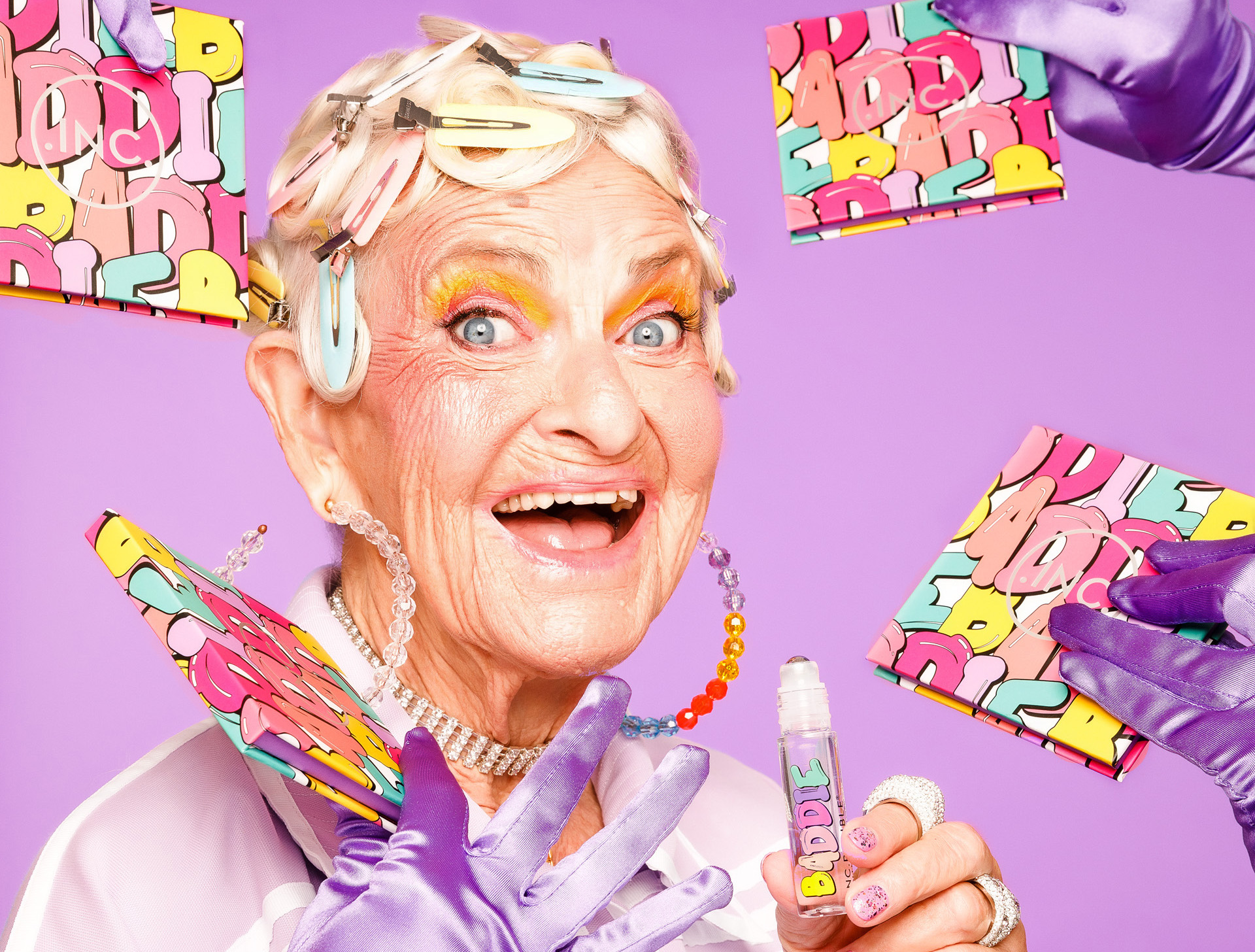 Instagram's favorite grandma, Baddie Winkle, is getting her own makeup collection—and it has anti-aging boob masks