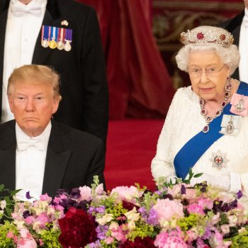President Trump may have fallen asleep during the queen's speech, and he got the royal meme treatment