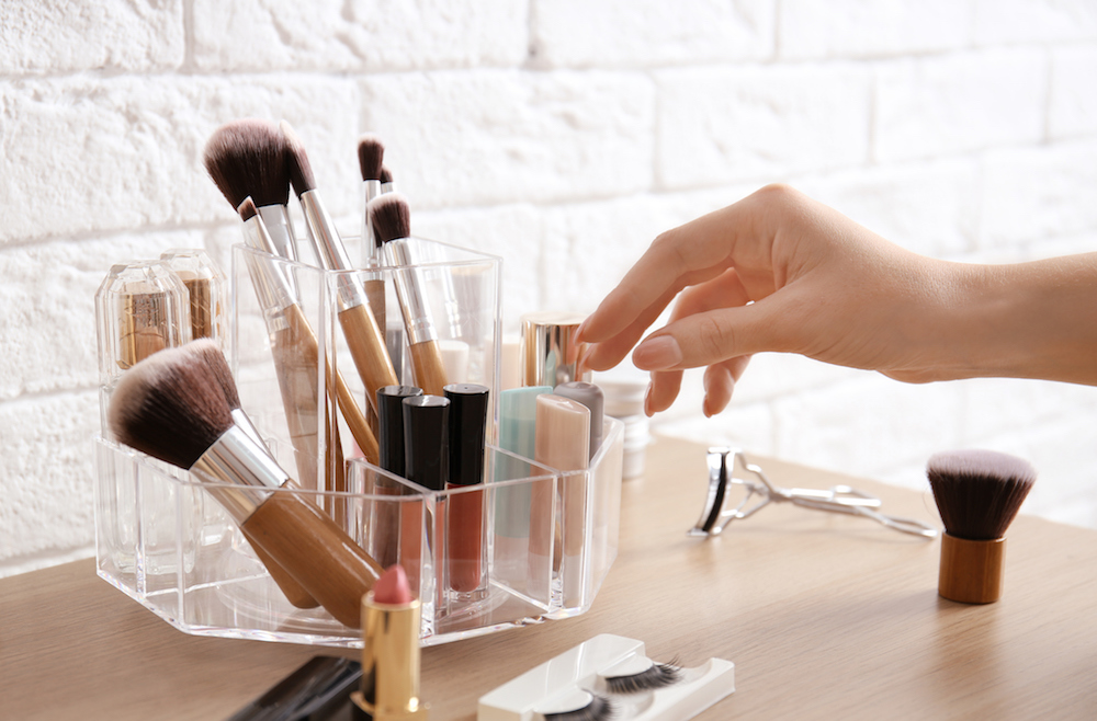 How to organize an obscene makeup collection when you live in a small space