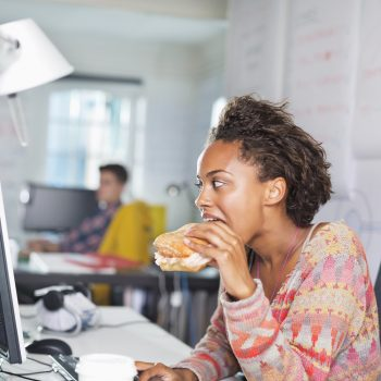 Research shows that millennials are afraid to take lunch breaks at work, and we relate so hard