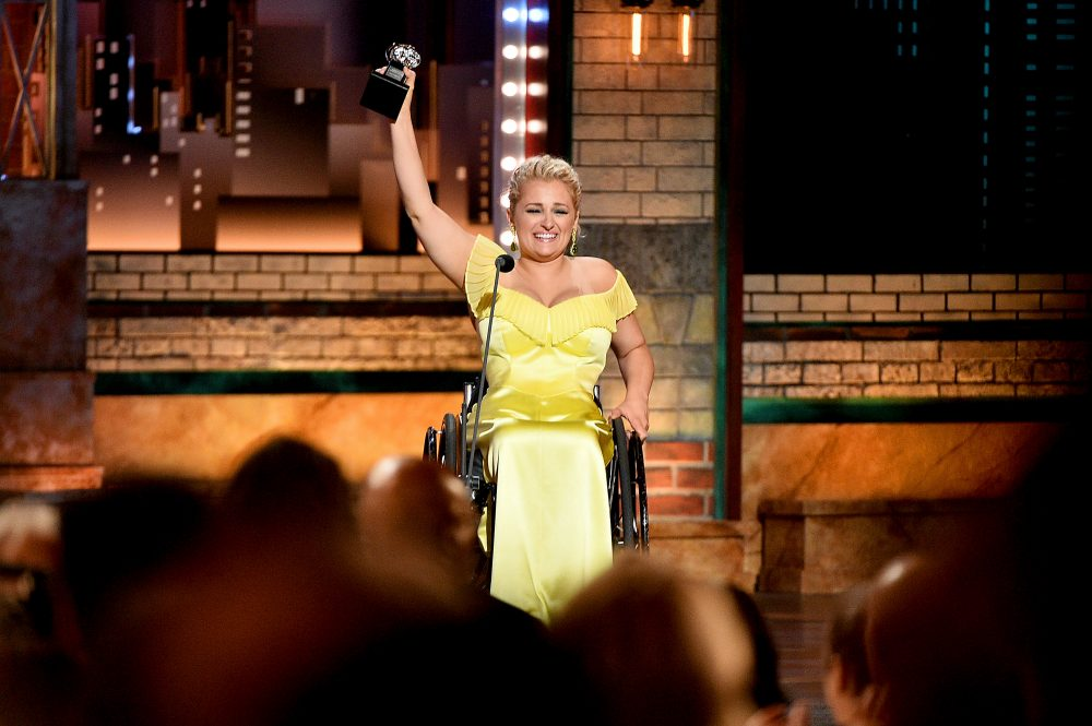Ali Stroker just became the first person who uses a wheelchair to win a Tony, and congratulations are in order