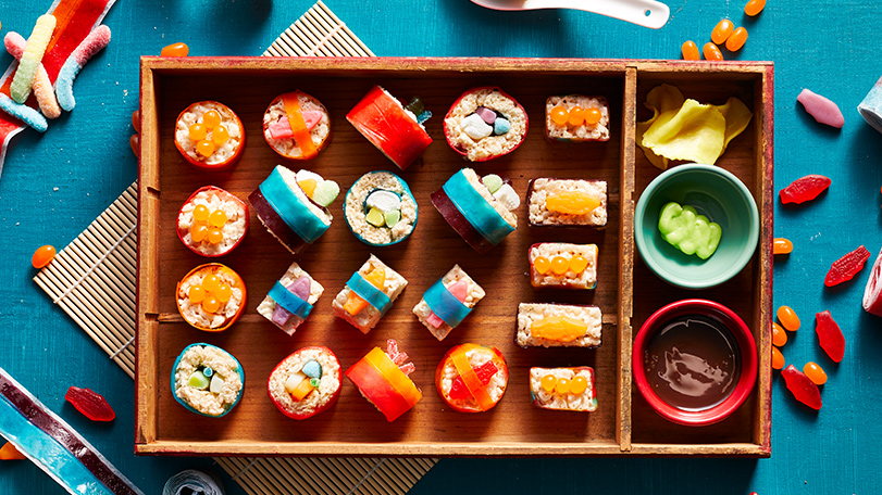 "This easy ""dessert sushi"" recipe will make your tastebuds soy happy"