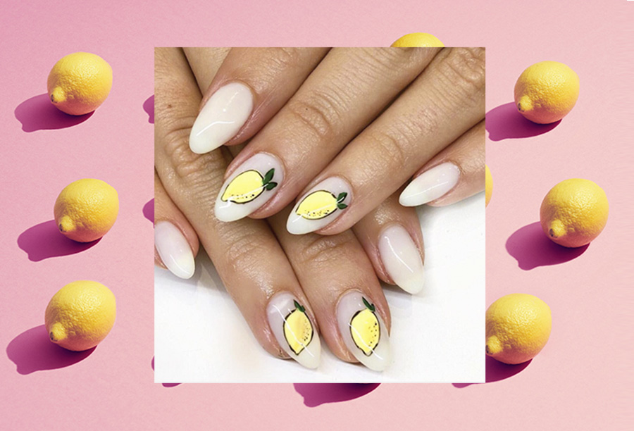 Wear summertime on your fingertips with juicy lemon nails, the nail art trend that Beyoncé predicted
