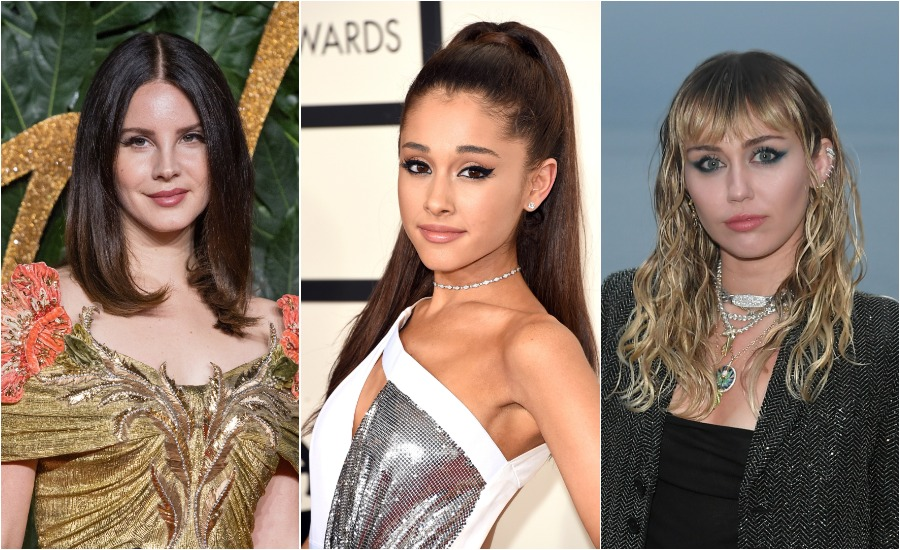 There are rumors of an Ariana Grande, Miley Cyrus, and Lana Del Rey collab, and did fans manifest this?