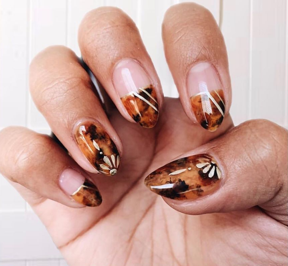 Tortoiseshell nail art is the snappy new trend you'll want to show off all summer