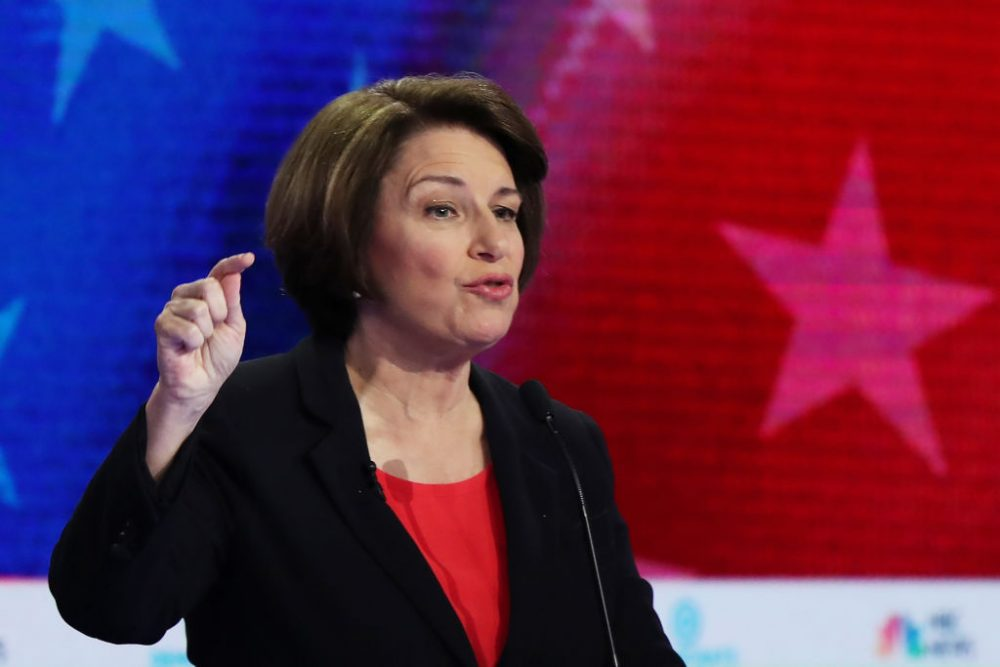 "Amy Klobuchar had the best response to this male candidate claiming to be the only one ""advancing the ball"" for reproductive health"