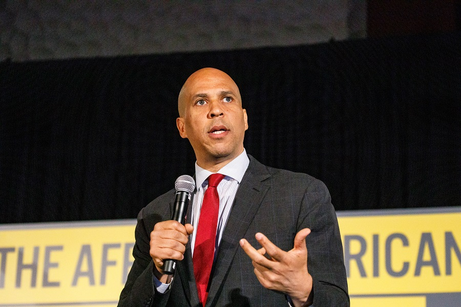 "Cory Booker said he will ""fight to protect"" black transgender women, and this is so important"