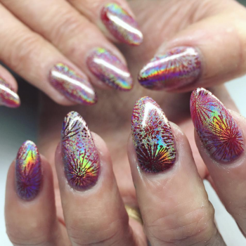 Firework nails will make a bang on your manicure for the Fourth of July
